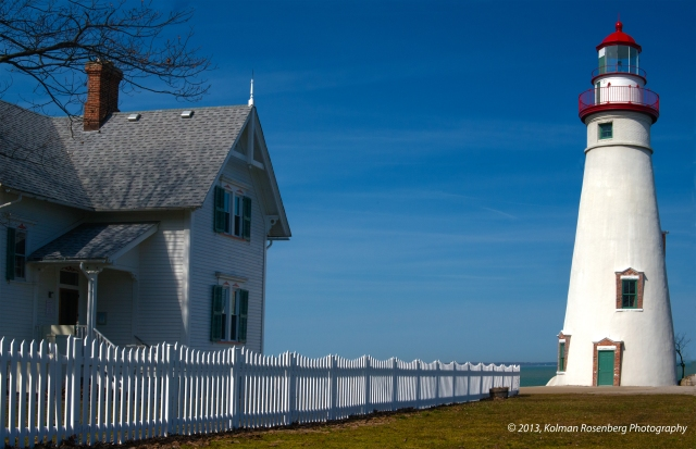 Marblehead Lighthouse and keepers house.