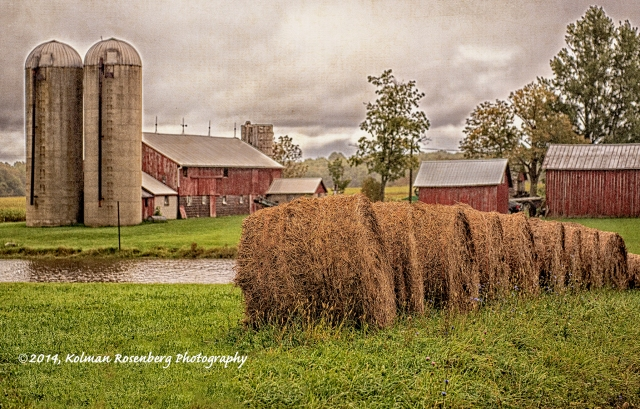 Red Barns and Hay